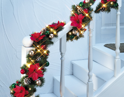 Ghirlanda natalizia luminosa dmail - Ghirlande luminose per esterno ...