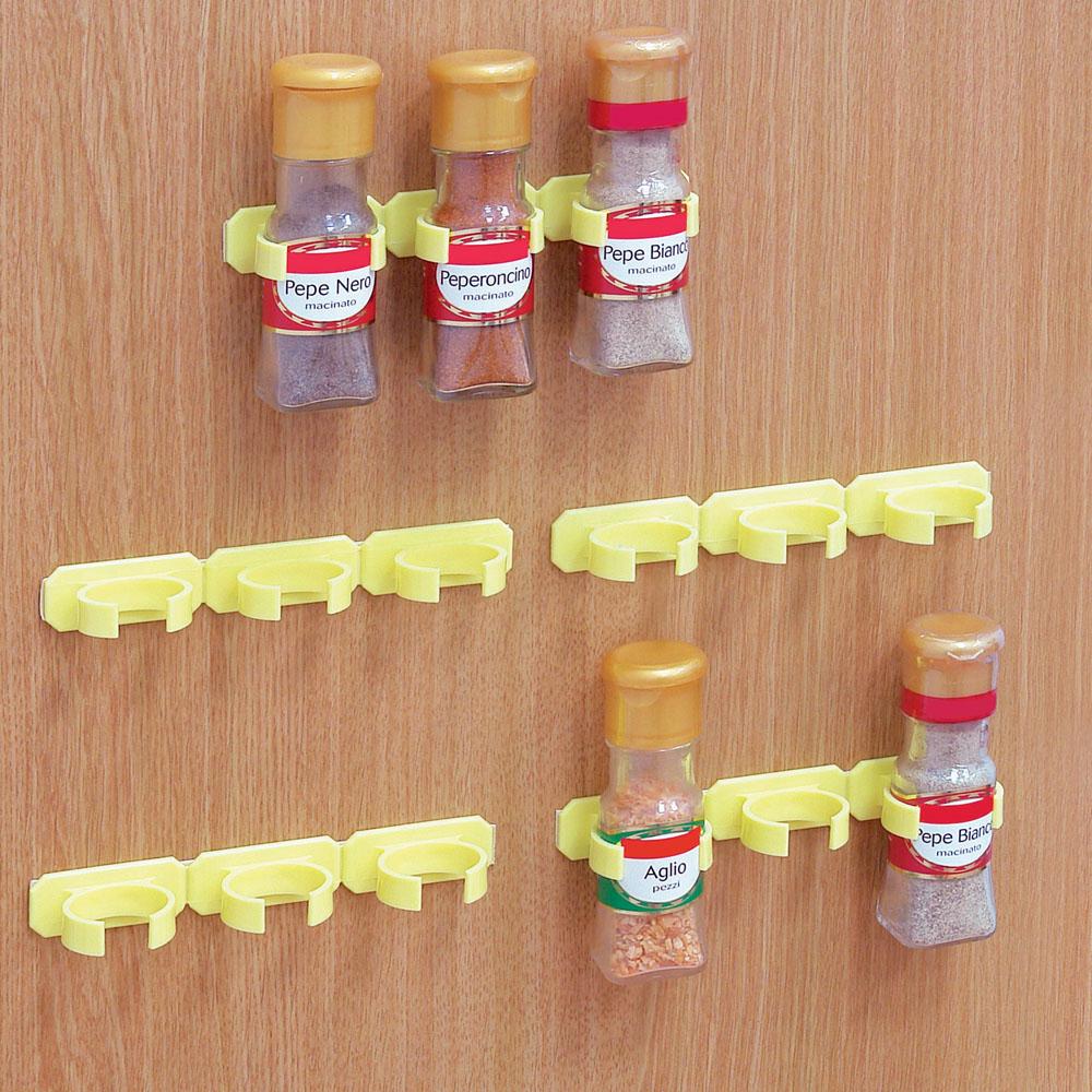 Set di 5 porta spezie gialli dmail - Portaspezie da parete ...