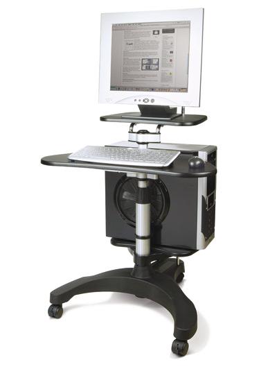 Mobile portacomputer con ruote dmail for Carrello porta pc brico