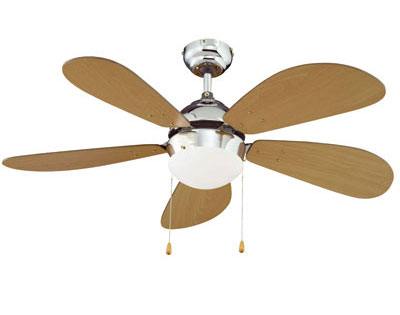 Ventilatore con pale da soffitto + lampadario - 183145 - Dmail