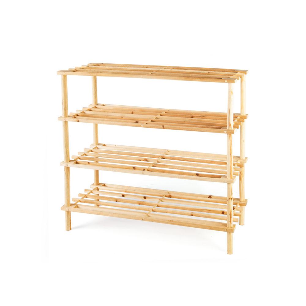 Scaffale in legno a 4 ripiani - Casa - Dmail
