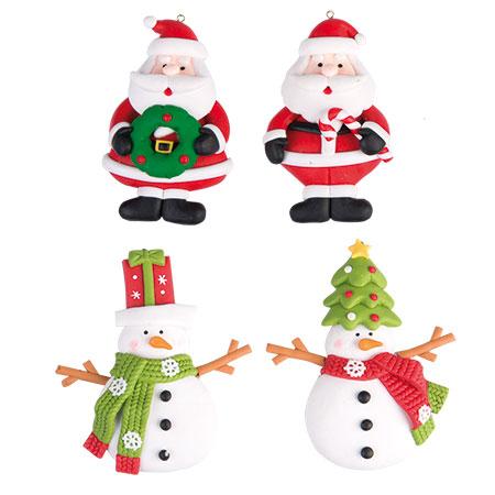 Set 4 decorazioni natalizie